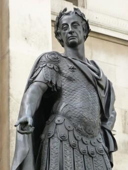 image of a roman emperor statue in rome